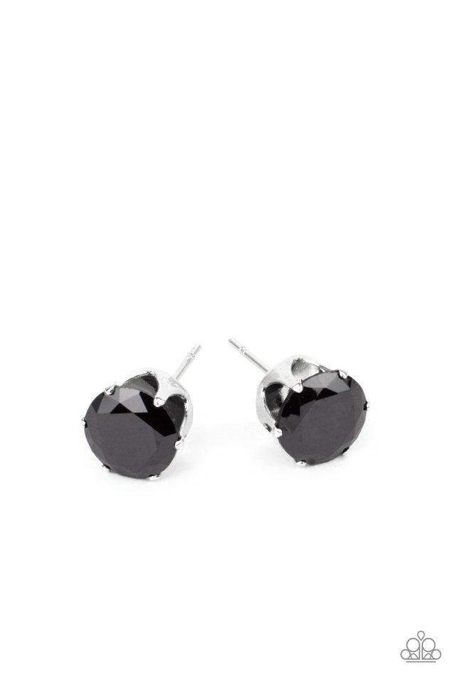 Modest Motivation - Black - Paparazzi Earring Image