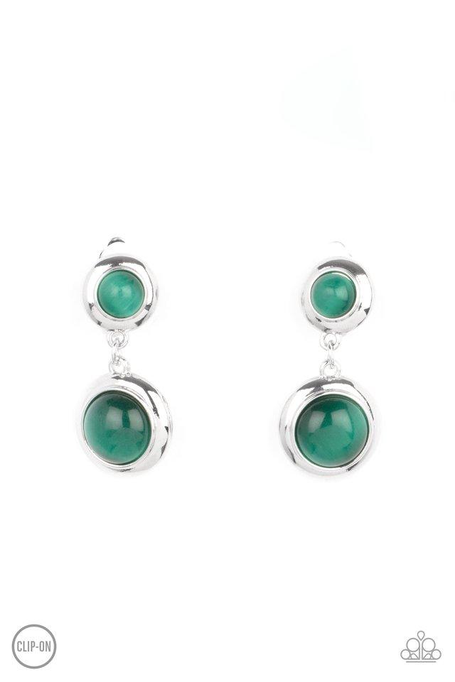 Subtle Smolder - Green - Paparazzi Earring Image