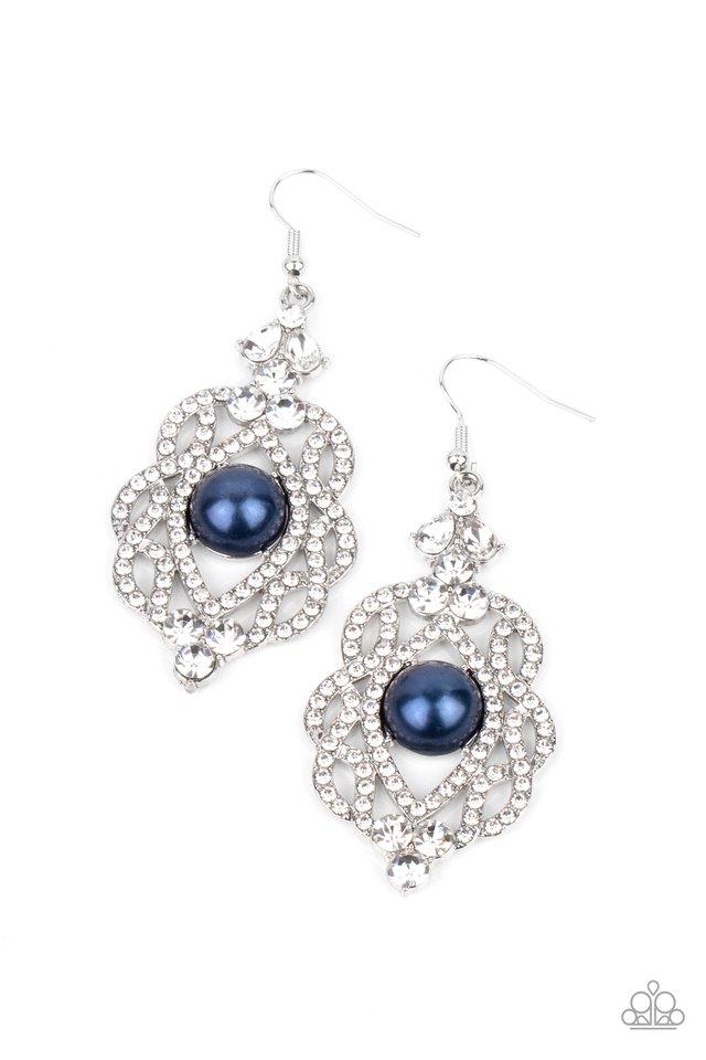 Rhinestone Renaissance - Blue - Paparazzi Earring Image