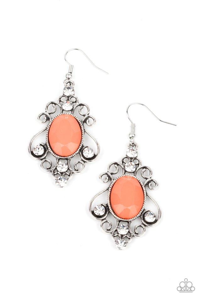 Tour de Fairytale - Orange - Paparazzi Earring Image