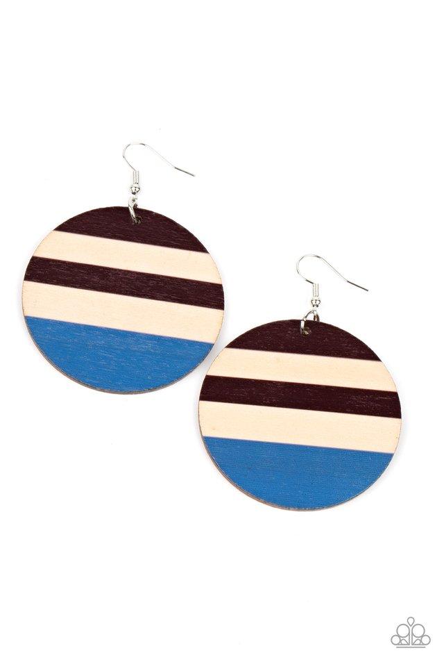 Yacht Party - Blue - Paparazzi Earring Image