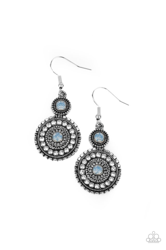 Opulent Outreach - Blue - Paparazzi Earring Image