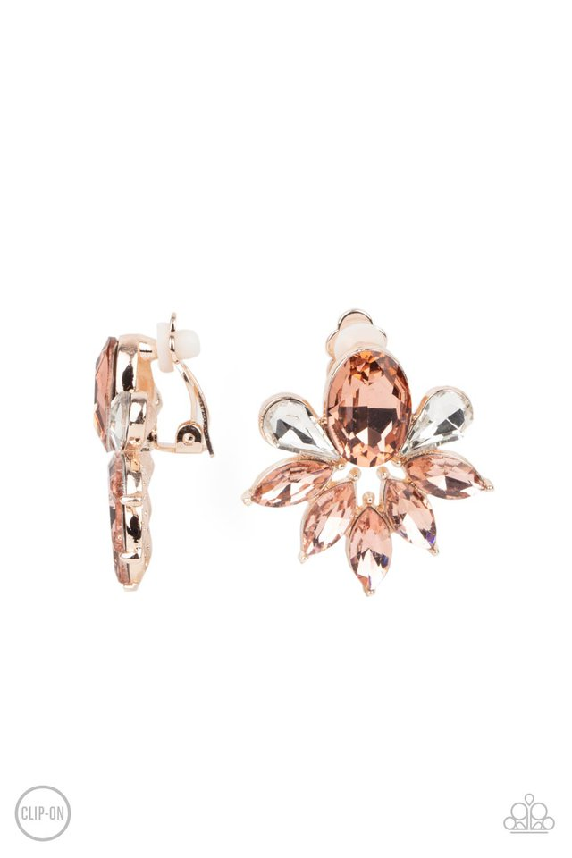 Fearless Finesse - Rose Gold - Paparazzi Earring Image