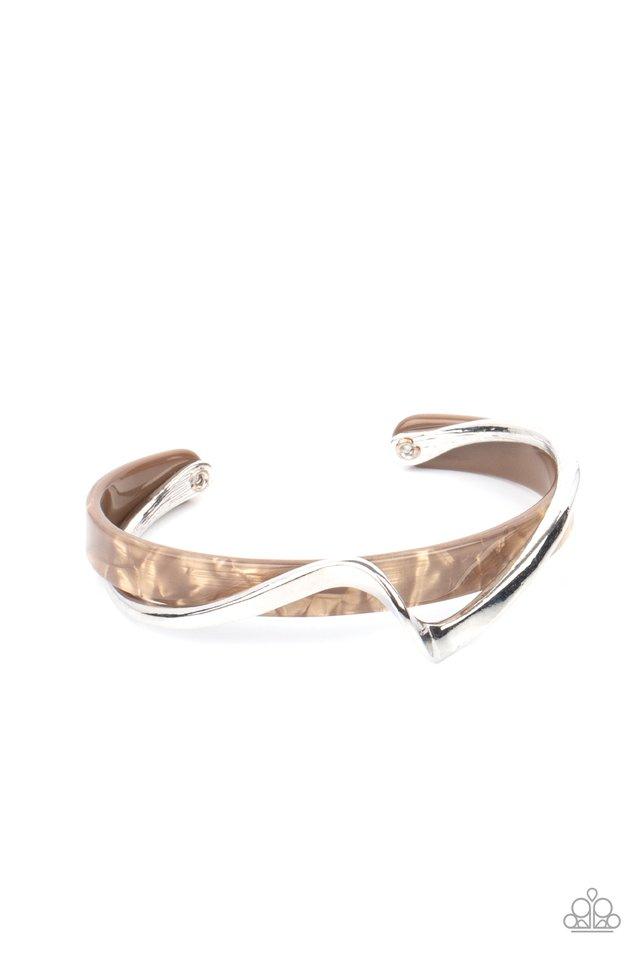 Craveable Curves - Brown - Paparazzi Bracelet Image