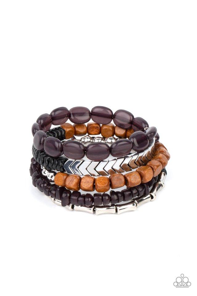 Outdoor Retreat - Black - Paparazzi Bracelet Image