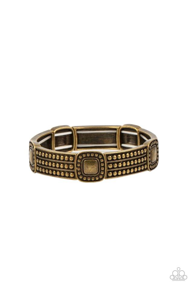 Rustic Redux - Brass - Paparazzi Bracelet Image