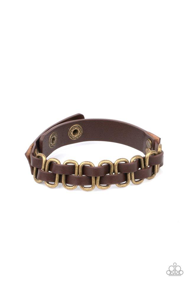 Gone Rogue - Brass - Paparazzi Bracelet Image