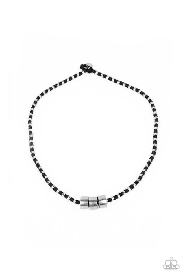 Pull The Ripcord - Black - Paparazzi Necklace Image