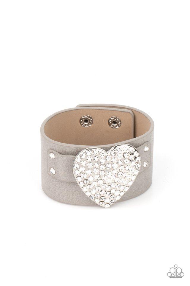 Flauntable Flirt - Silver - Paparazzi Bracelet Image