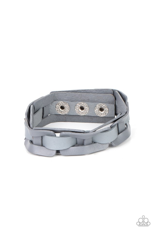 Garage Band Grunge - Silver - Paparazzi Bracelet Image