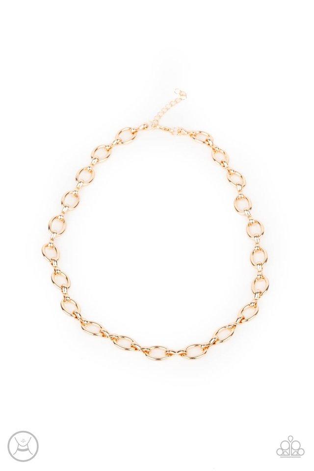 Craveable Couture - Gold - Paparazzi Necklace Image