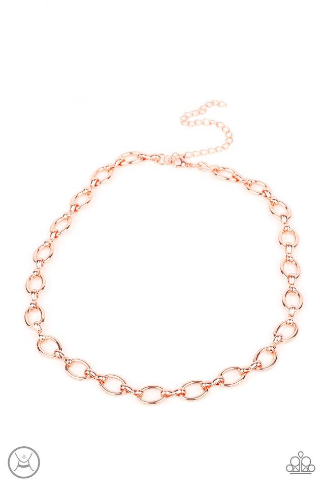 Craveable Couture - Copper - Paparazzi Necklace Image