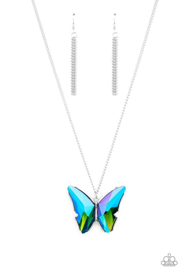The Social Butterfly Effect - Blue - Paparazzi Necklace Image