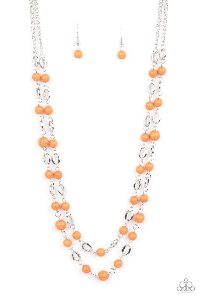 Essentially Earthy - Orange - Paparazzi Necklace Image