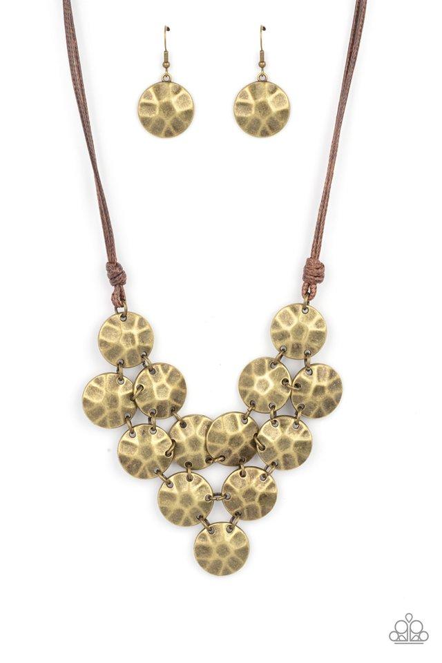 Token Treasure - Brass - Paparazzi Necklace Image