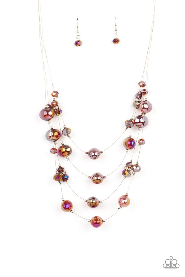 Cosmic Real Estate - Brown - Paparazzi Necklace Image