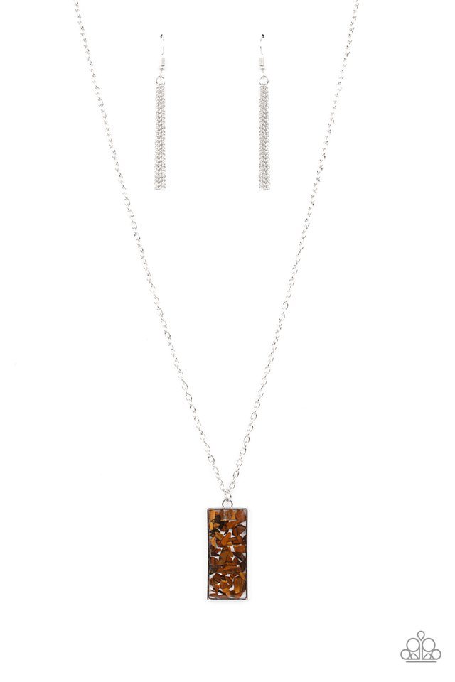 ​Retro Rock Collection - Brown - Paparazzi Necklace Image