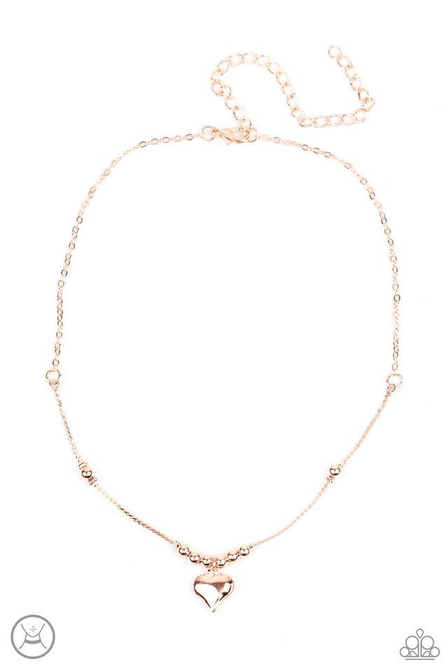 Casual Crush - Rose Gold - Paparazzi Necklace Image