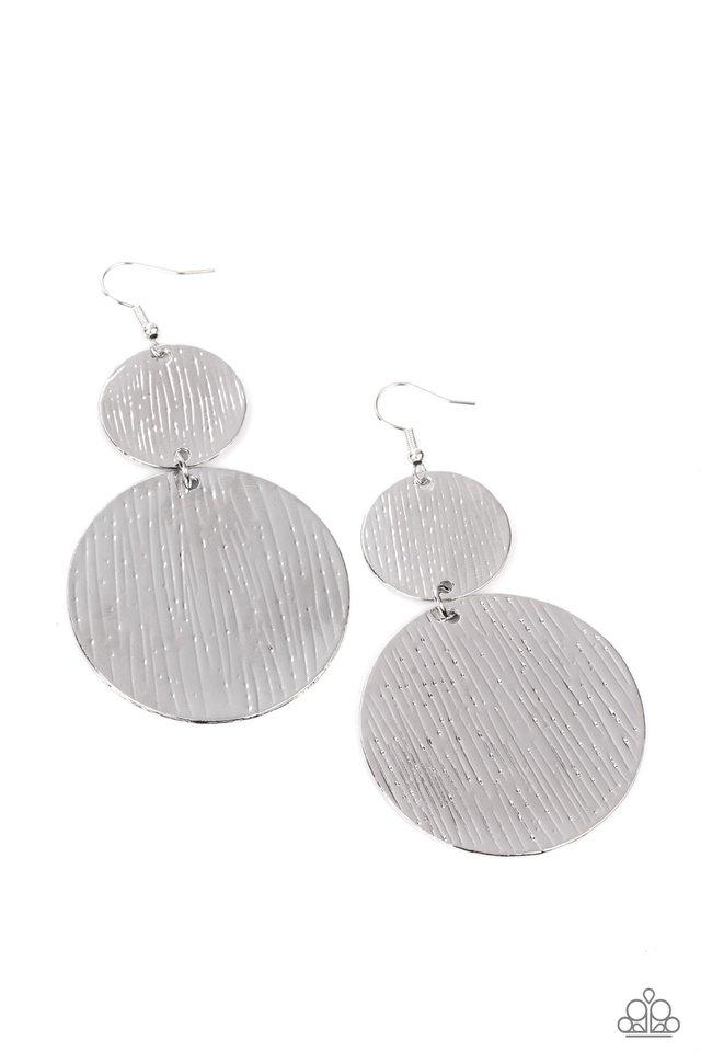 Status CYMBAL - Silver - Paparazzi Earring Image