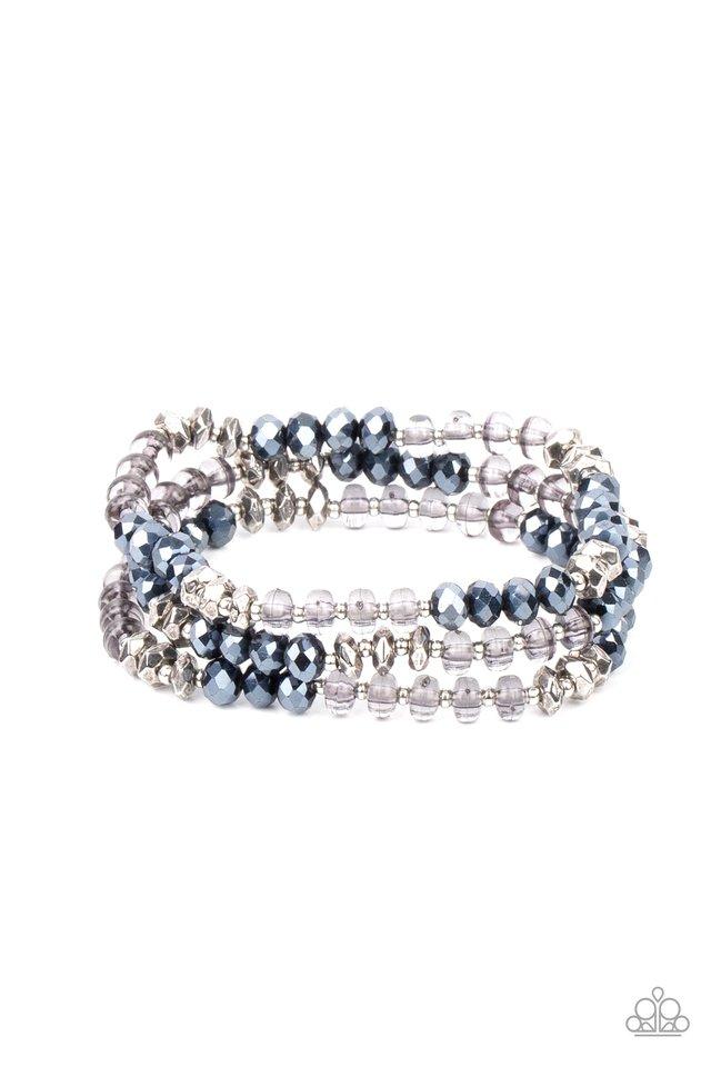 Stellar Strut - Blue - Paparazzi Bracelet Image