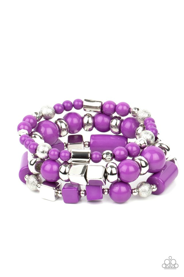 Perfectly Prismatic - Purple - Paparazzi Bracelet Image