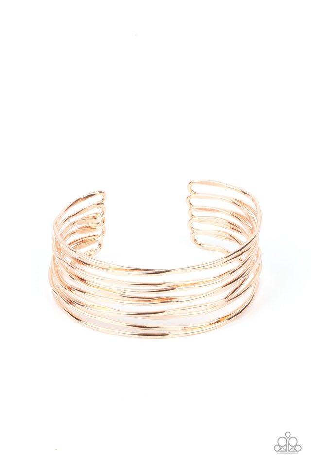 Nerves of Steel - Rose Gold - Paparazzi Bracelet Image