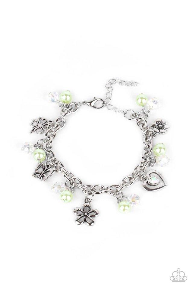 Retreat into Romance - Green - Paparazzi Bracelet Image