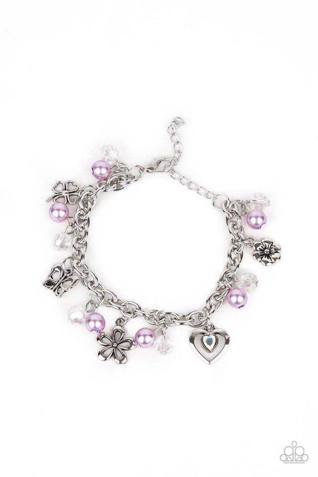 Retreat into Romance - Purple - Paparazzi Bracelet Image
