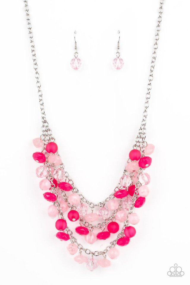 Fairytale Timelessness - Pink - Paparazzi Necklace Image