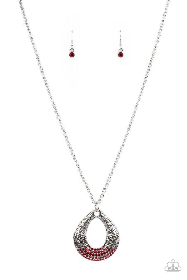 Glitz and Grind - Red - Paparazzi Necklace Image