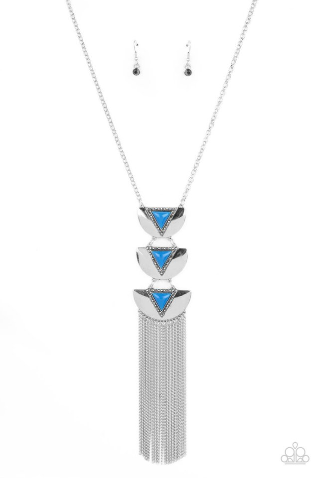 Gallery Expo - Blue - Paparazzi Necklace Image