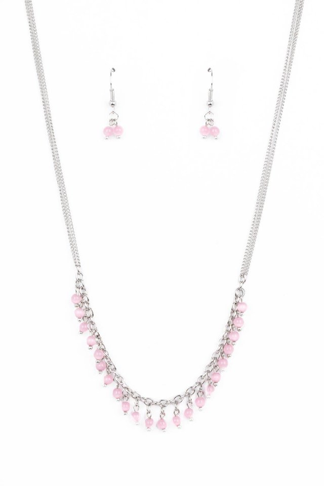 DEW a Double Take - Pink - Paparazzi Necklace Image