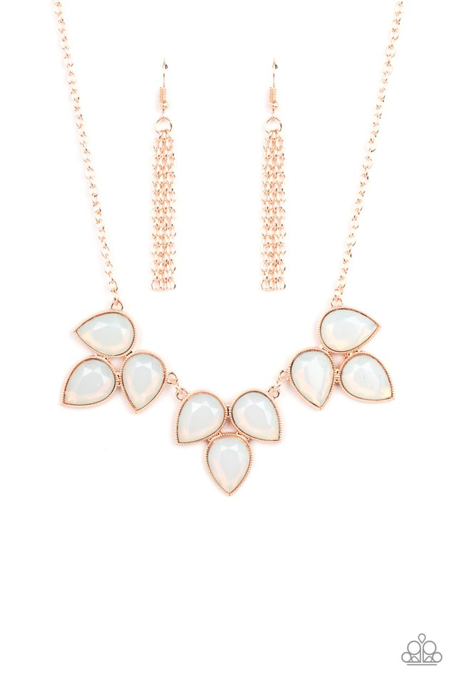 Prairie Fairytale - Rose Gold - Paparazzi Necklace Image