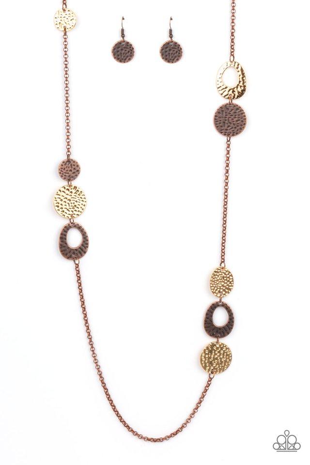 Gallery Guru - Copper - Paparazzi Necklace Image