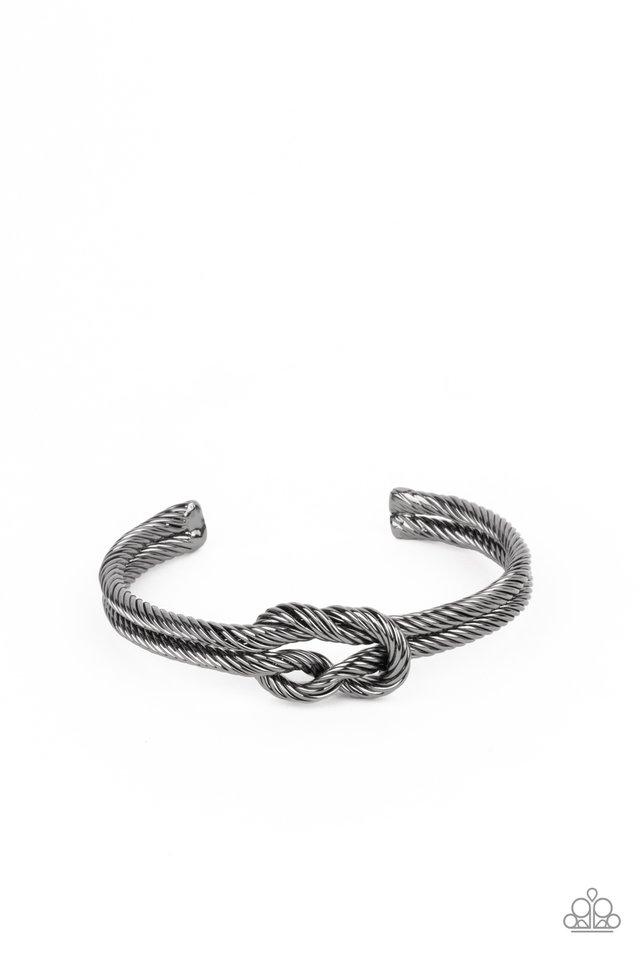Nautical Grunge - Black - Paparazzi Bracelet Image