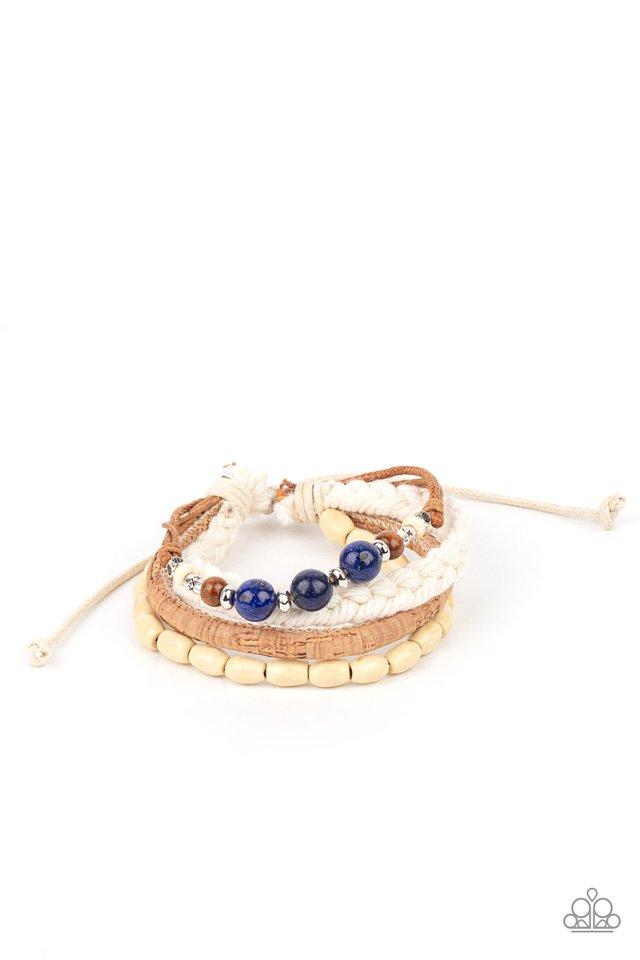 Natural-Born Navigator - Blue - Paparazzi Bracelet Image