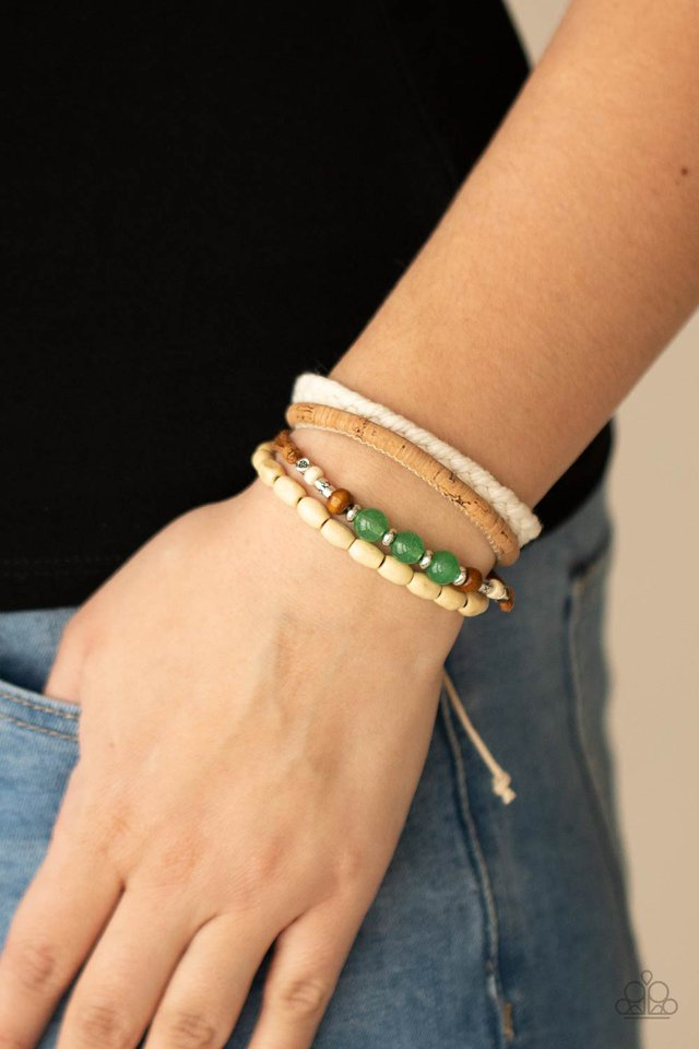 Natural-Born Navigator - Green - Paparazzi Bracelet Image