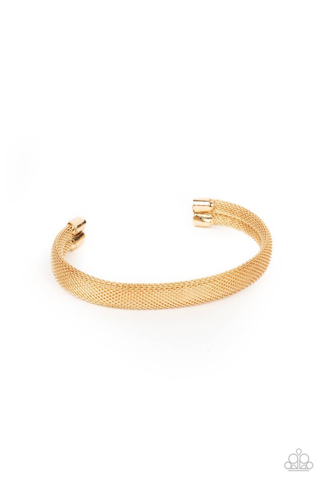 Ready, Willing, and CABLE - Gold - Paparazzi Bracelet Image