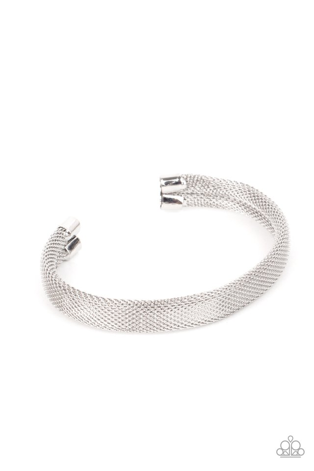 Ready, Willing, and CABLE - Silver - Paparazzi Bracelet Image