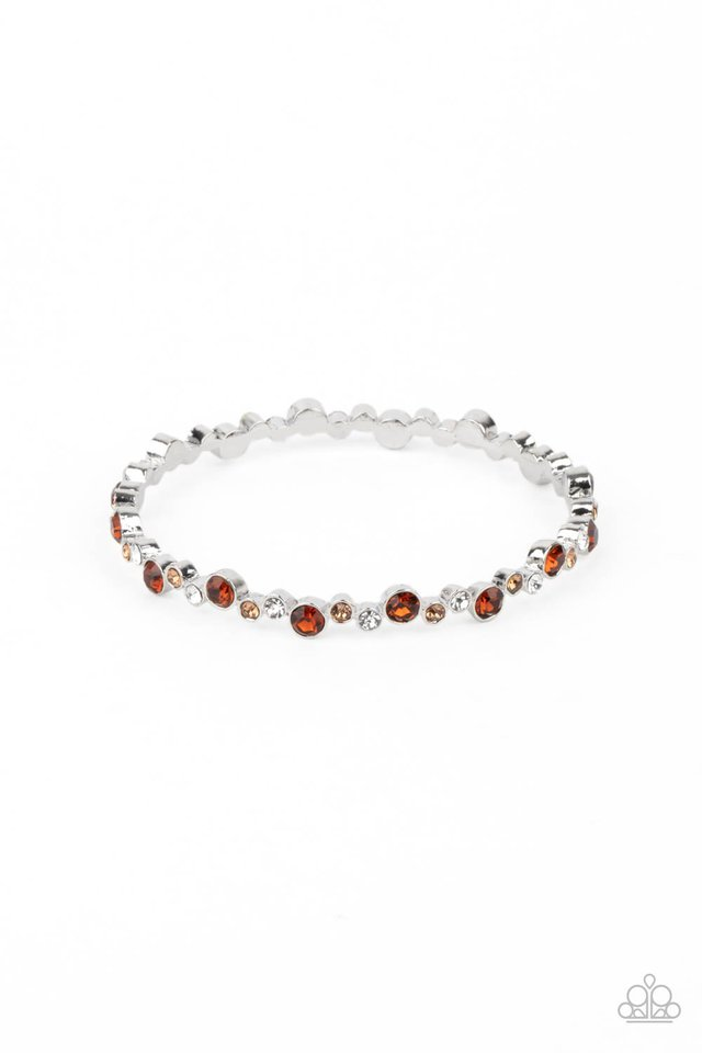 Twinkly Trendsetter - Brown - Paparazzi Bracelet Image