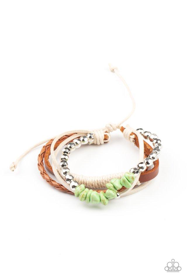 Keep At ROAM Temperature - Green - Paparazzi Bracelet Image