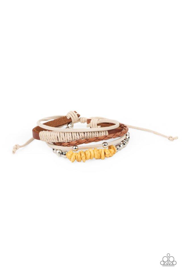 Keep At ROAM Temperature - Yellow - Paparazzi Bracelet Image