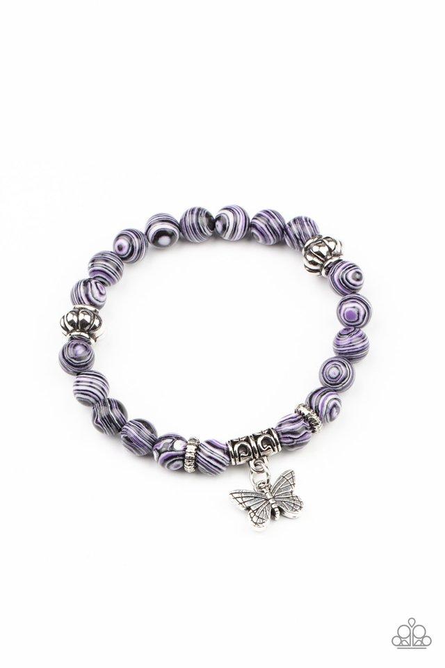 Butterfly Wishes - Purple - Paparazzi Bracelet Image