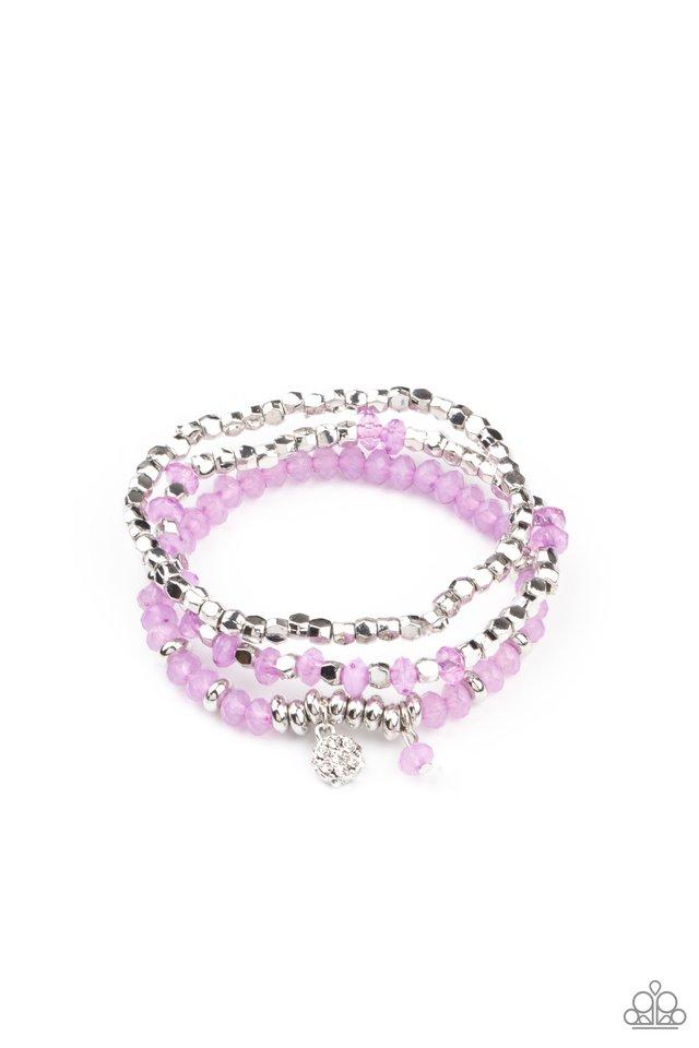 Glacial Glimmer - Purple - Paparazzi Bracelet Image