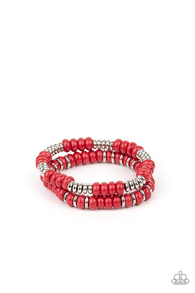 Desert Rainbow - Red - Paparazzi Bracelet Image