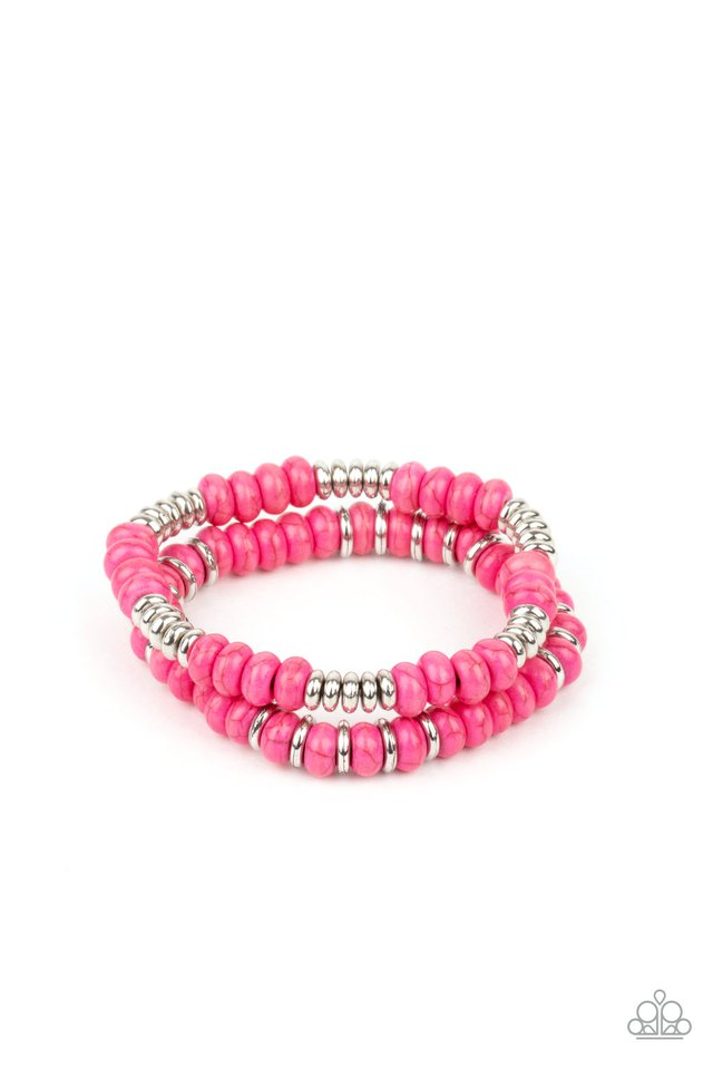 Desert Rainbow - Pink - Paparazzi Bracelet Image