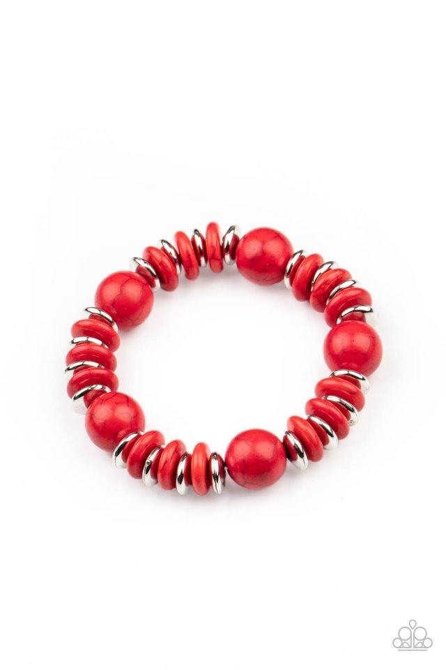 Rustic Rival - Red - Paparazzi Bracelet Image
