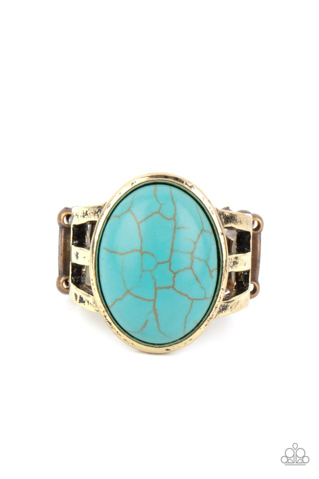Divine Deserts - Brass - Paparazzi Ring Image