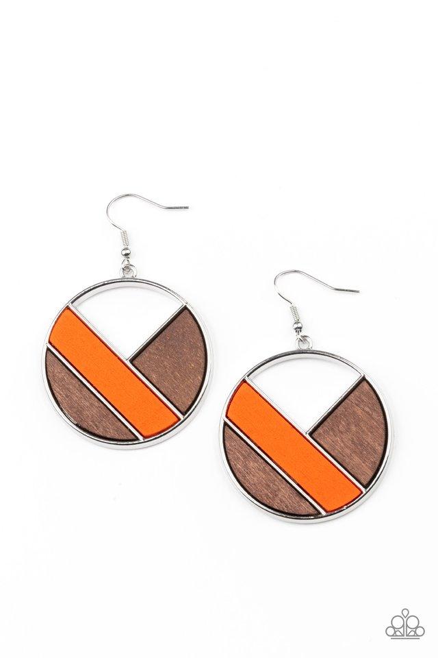 Dont Be MODest - Orange - Paparazzi Earring Image