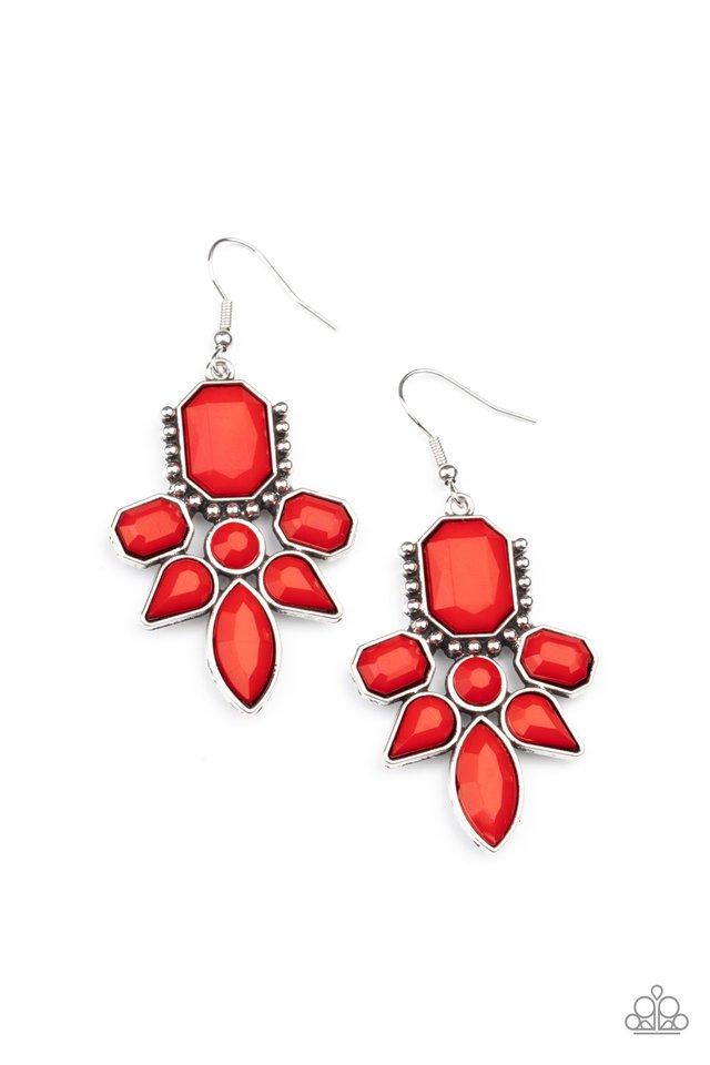 Vacay Vixen - Red - Paparazzi Earring Image